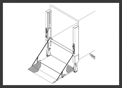 TDR 66 Drawing Box tdr 66 thieman tailgates hydraulic lift gate manufacturer thieman liftgate wiring diagram at crackthecode.co